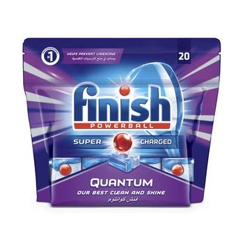 Finish Dishwasher Detergent Quantum Max Tabs 20s