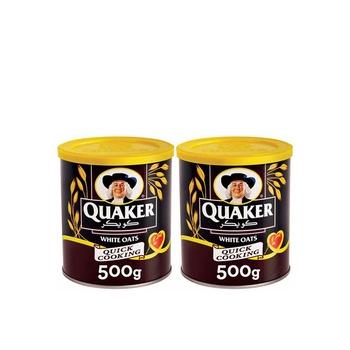 Quaker Oats Tin 500g Pack of 2
