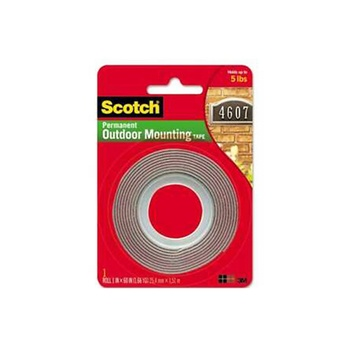 3M Scotch Exterior Mounting Tape - 1 inch X 60 inch