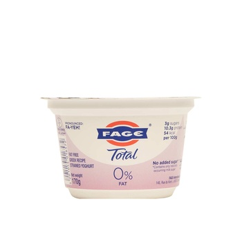 Fage Total 0% 170 Gm