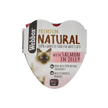 Webbox Natural Cat Food Heart Salmon In Jelly 85g