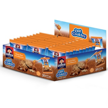 Quaker Oat Cookies Honey Nut 9gX30 20% Off