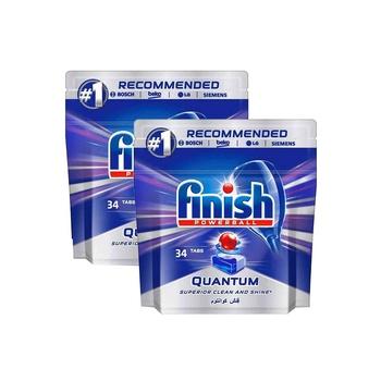Finish Quantum Dishwasher 34 Tablets Pack Of 2