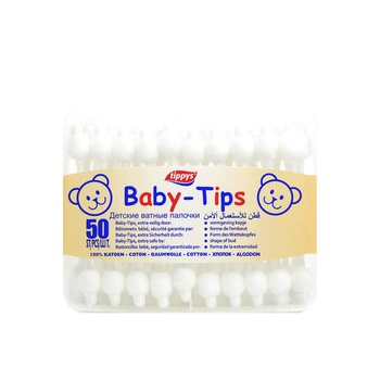 Tippys Baby Tips Cotton Buds 50pcs