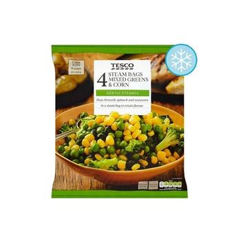 Tesco Micro Veg Brocoli Spinach & Sweetcorn 640g