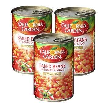 California Garden Beans in Tomato Sauce 450g Pack of 3