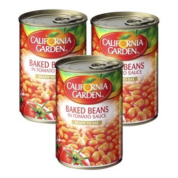 California Garden Beans in Tomato Sauce 450g Pack of 3