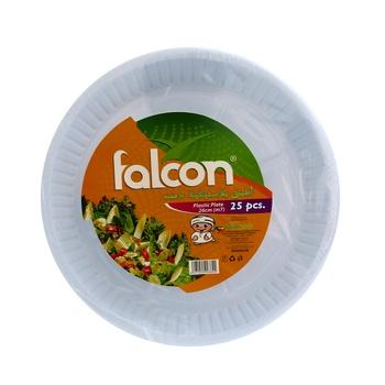 Falcon Round Plastic Plates 25pcs