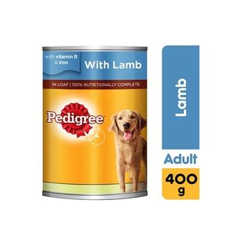 Pedigree Lamb Wet Dog Food Can 400g