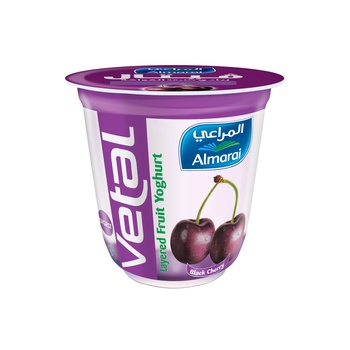 Almarai Vetal Layered Yog Blak Cherry 140G