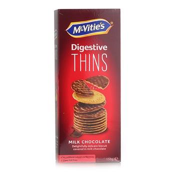 Mcvities Digestive Thins Milk Chocolate 150g