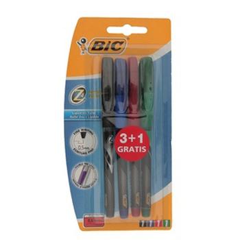 Bic Roller Pen Set 3+1
