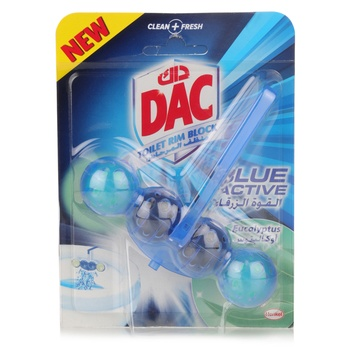 DAC Blue Active Eucalyptus Toilet Rim Block - 50g