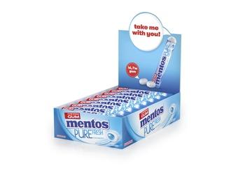 Mentos Pure Fresh Gum Rolls Freshmint 16x15.75g