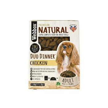 Webbox Natural Dog Food Duo Dinner Chicken 140g + 70g
