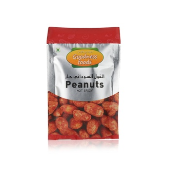 Goodness Foods Peanuts Hot Spicy Packet 20g