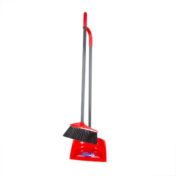 Vileda Broom + Dustpan with Long Handle
