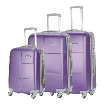Voyager Trolley Purple- 3 Pcs Set