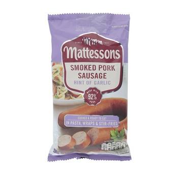 Mattesons Garlic Smoked Pork Sausage 200g
