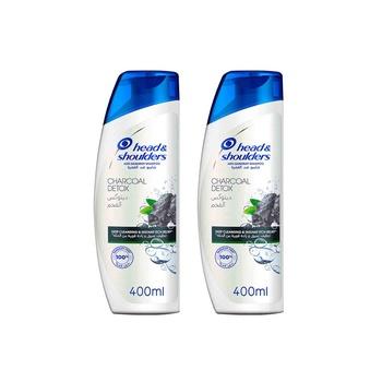 Head & Shoulders Charcoal Detox Anti-Dandruff Shampoo 2X400ml@ 30% Off