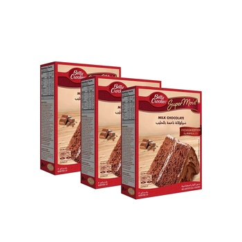 Betty Crocker Super Moist Milk Chocolate 3X510g