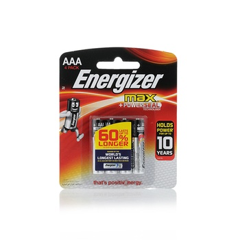 Energizer Max Alkaline AAA Battery 4 pc pack