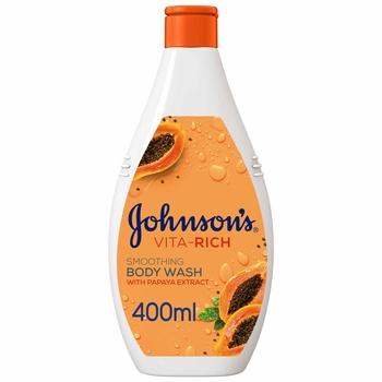 Johnsons Body Care Body Wash Vita Rich With Papaya Extract 400ml