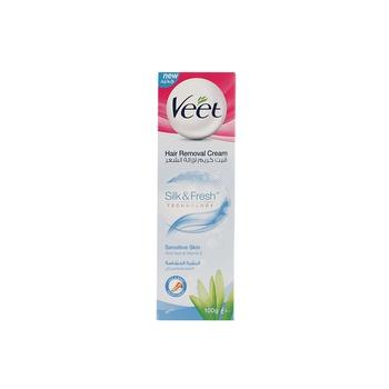 Veet Hair Remover Cream Sensitive Skin Aloe Vera & Vitamin E 100g