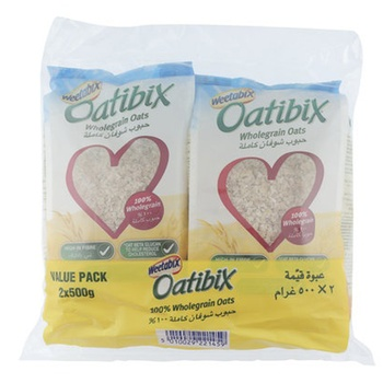 Weetabix Oatibix Wholegrain Rolled Oats Twin pack