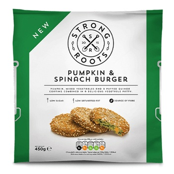 Strong Roots Pumpkin And Spinach Burger 450g
