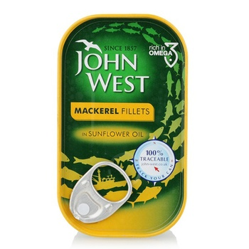 John West Mackerel Filts In Sunflower Oil 125g
