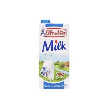 Elle & Vire UHT Semi Skimmed Blue Milk 1ltr