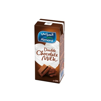 Almarai double chocolate flavoured milk 200ml