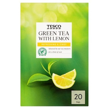 Tesco Green Tea With Lemon 20 s