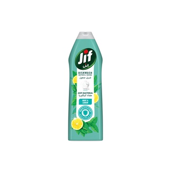 Jif Anti Bacterial Dishwashing Liquid Mint & Lemon 750ml