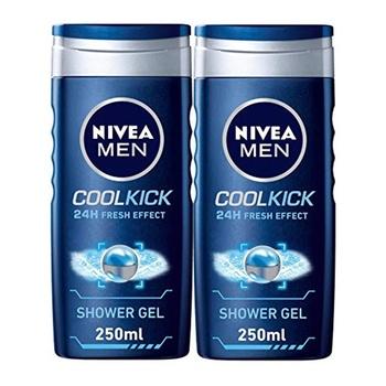 Nivea 24-Hour Effect Coolkick Fresh Shower Gel 2 x 250 ml