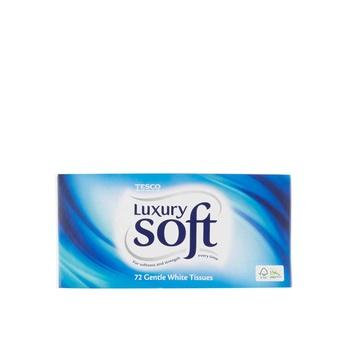 Tesco Lux Soft Reg Tissues 72s