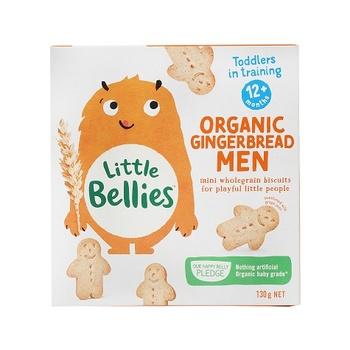 Little Bellies Organic Gingerbread Men (12+Months) 130g