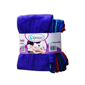 Microfiber Embossed Towel Set 4pcs