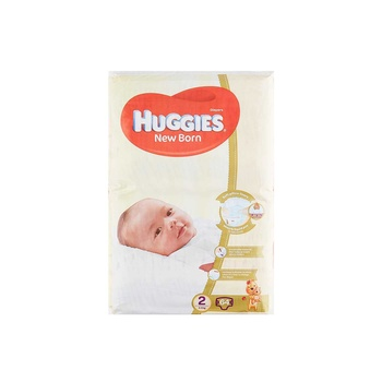 Huggies New Born Size 2 4 6 kg Jumbo Pack 64 Diapers