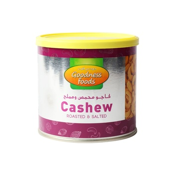 Goodness Foods Cashew Roasted Salted(Tin) 250g