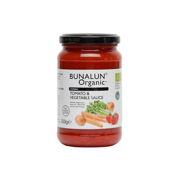 Bunalun Organic Cooking Tomato & Vegetable Sauce 350g