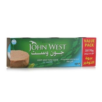 John West Light Meat Tuna Sold in Water 3 x 170g