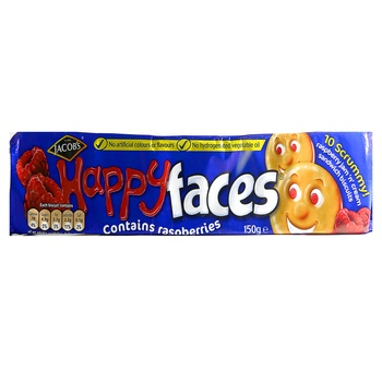 Jacobs Happy Faces Raspberries Cream Biscuits 150g