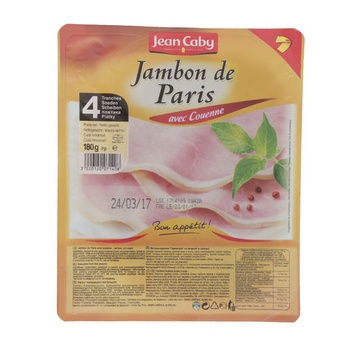 Caby White Cooked Ham with Rind 4Tr. 180g