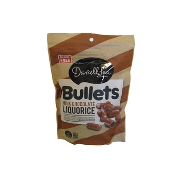 Darrell Lea Liquorice Bullets - Milk Chocolate 250g