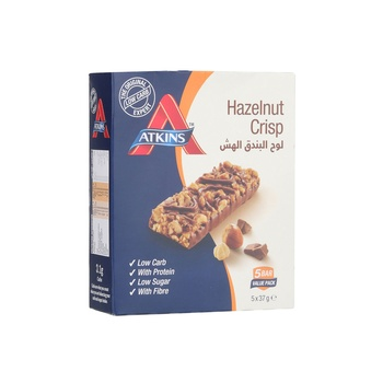 Atkins Chocolate Hazelnut Crisp Bar 5X37g
