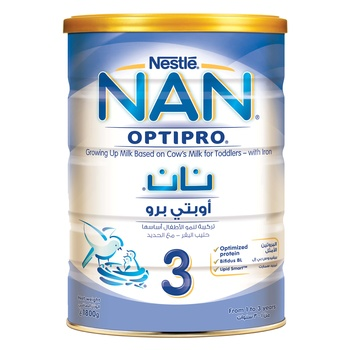 Nestle Nan Optipro Baby Food Formula 1 3 Years, 1800g @ 10% Off
