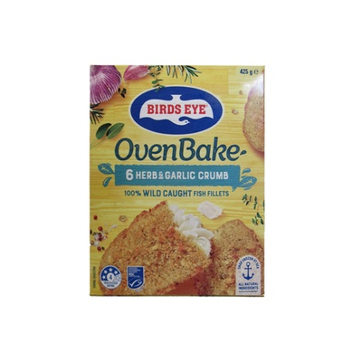 Birds Eye Oven Bake  6 Herb & Garlic Crumb Fish Fillets 425g