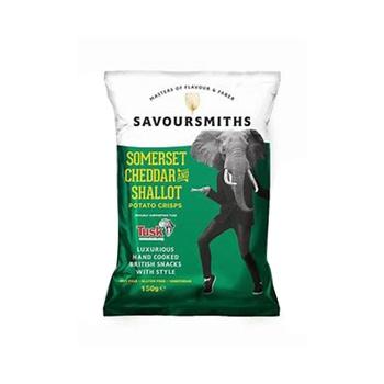 Savoursmith Cheddar & Shallot Crisps 150g